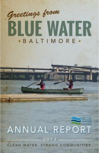 Cover of the Blue Water Baltimore Annual Report