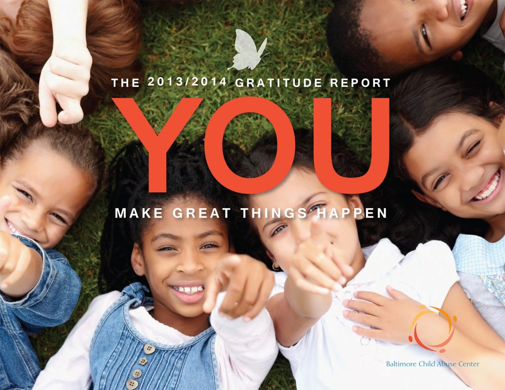 Cover of the BCAC Gratitude Report