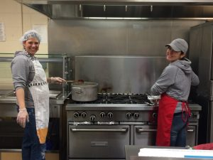 Jenn and Ally Prep the Food