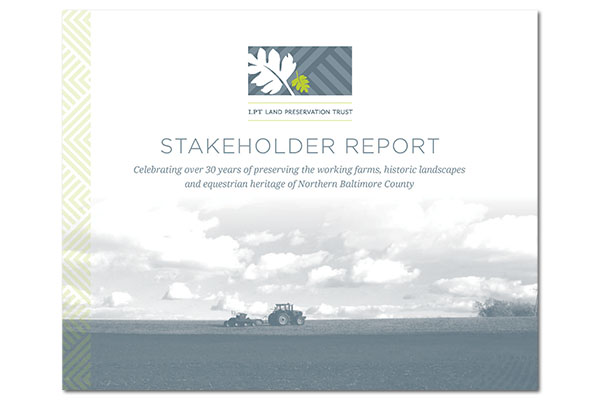 Land Preservation Trust Annual Report Cover